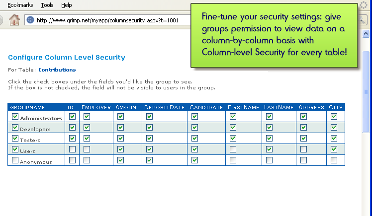 Column Security